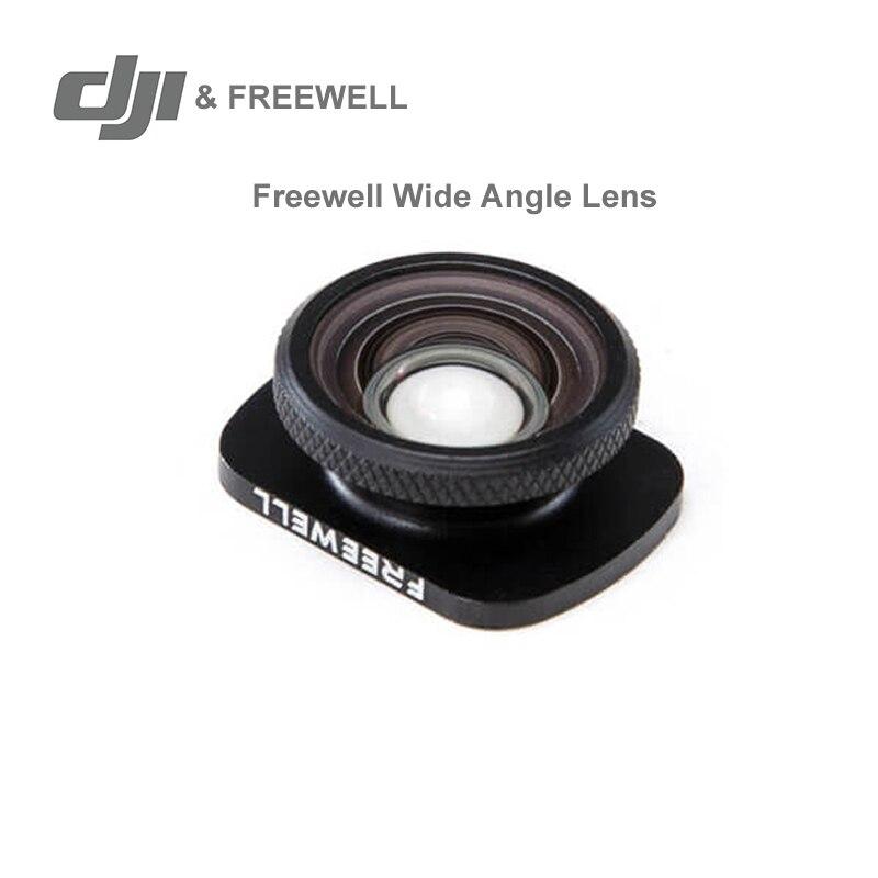 Dji freewell lente grande angular 18mm para dji osmo bolso expandido campo de visão em estoque original