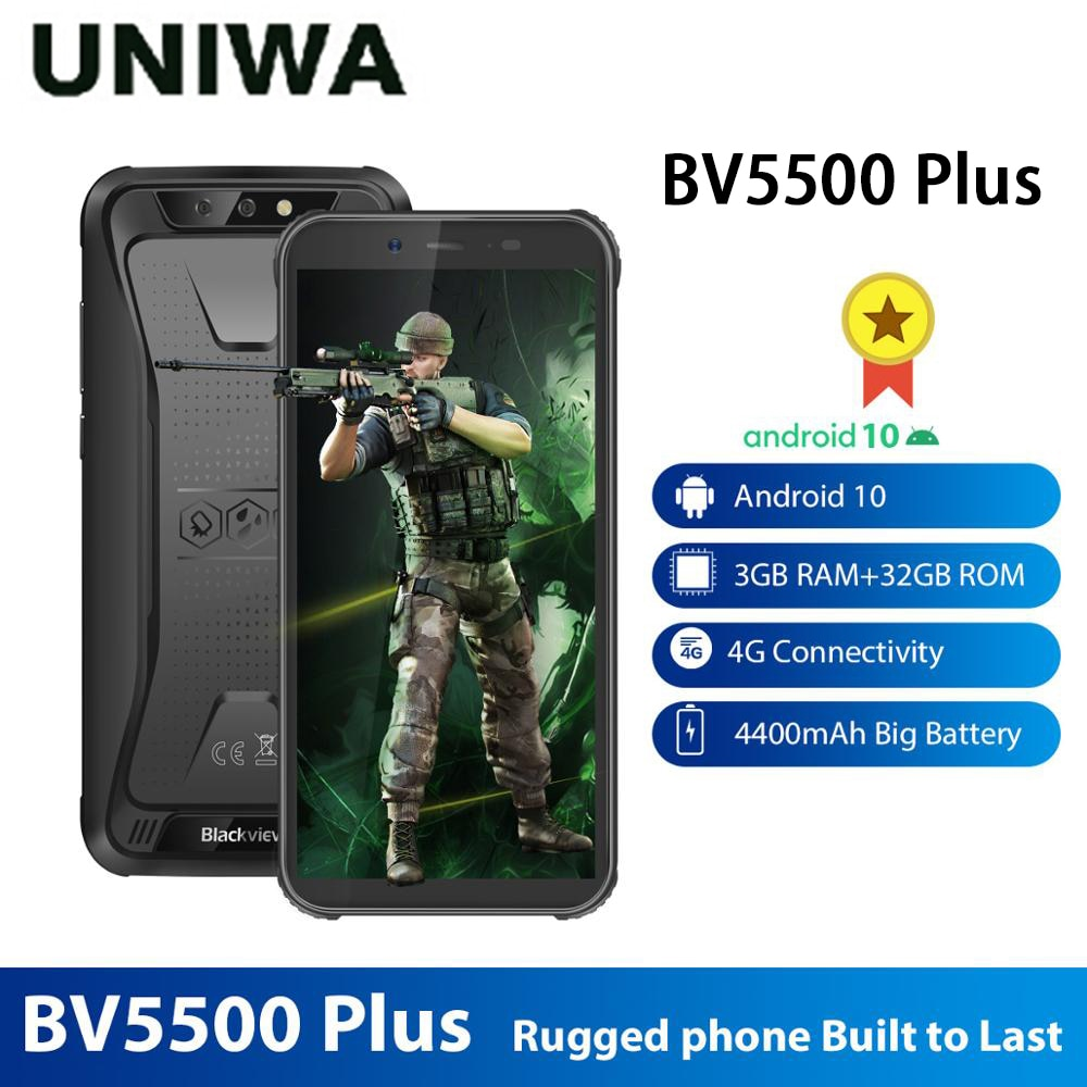 Перейти на Алиэкспресс и купить Смартфон Blackview BV5500 Plus защищенный, IP68, 3 + 32 ГБ, Android 10,0, 5,5 дюйма, 4400 мА ч