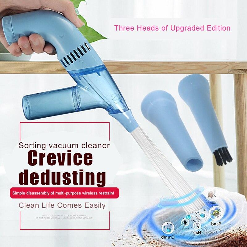 Mini limpiador de polvo inalámbrico, limpiador de polvo, removedor de suciedad portátil para aspiradora de mano, cepillo fácil de reemplazar P7Ding