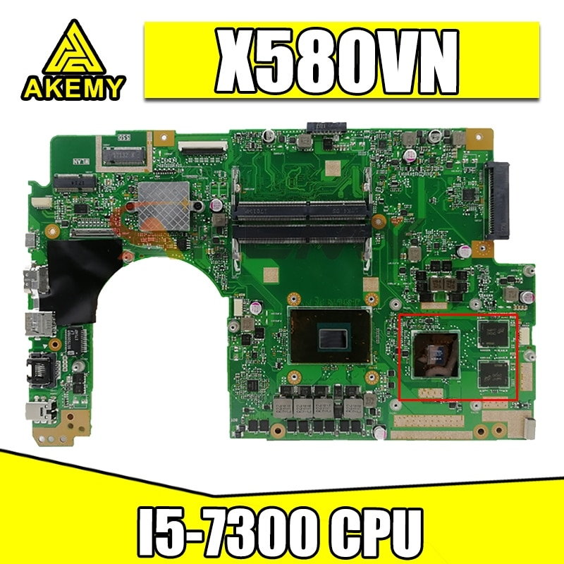 Akemy x580 vn اللوحة الرئيسية ل ASUS x580 vn x580 vd x580 v اللوحة المحمول 100% اختبار موافق I5-7300 CPU GTX1050