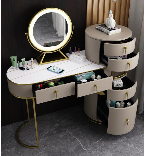 Шкаф для хранения гардеробного стола, интегрированный туалетный столик, туалетный столик