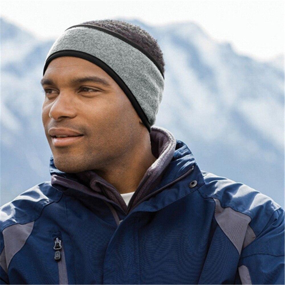 Unisex kobiety mężczyźni ucha cieplej zima opaska na głowę narciarskie nauszniki Unisex polar runo zima pałąk nauszniki pałąk #20
