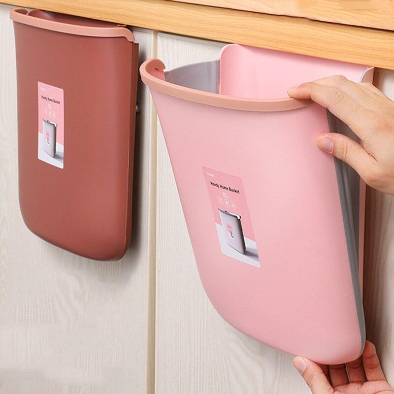 Wiszące składane kosze na śmieci ściana kuchenna zamontowane kosze na śmieci przenośna łazienka pojemniki na śmieci kosz na śmieci plastikowe pojemniki na odpady