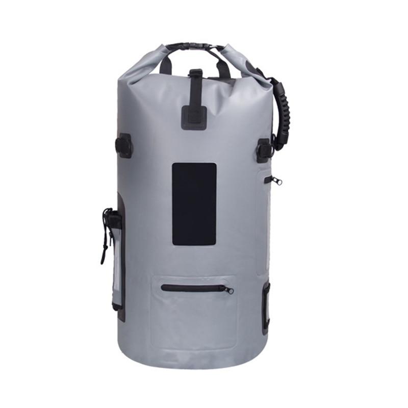 40L Water Resistant Diving Bag Drybags Folding Bucket Fishing Camping Sink Bag for Boat Kayak Equipment Waterproof Ocean Pack