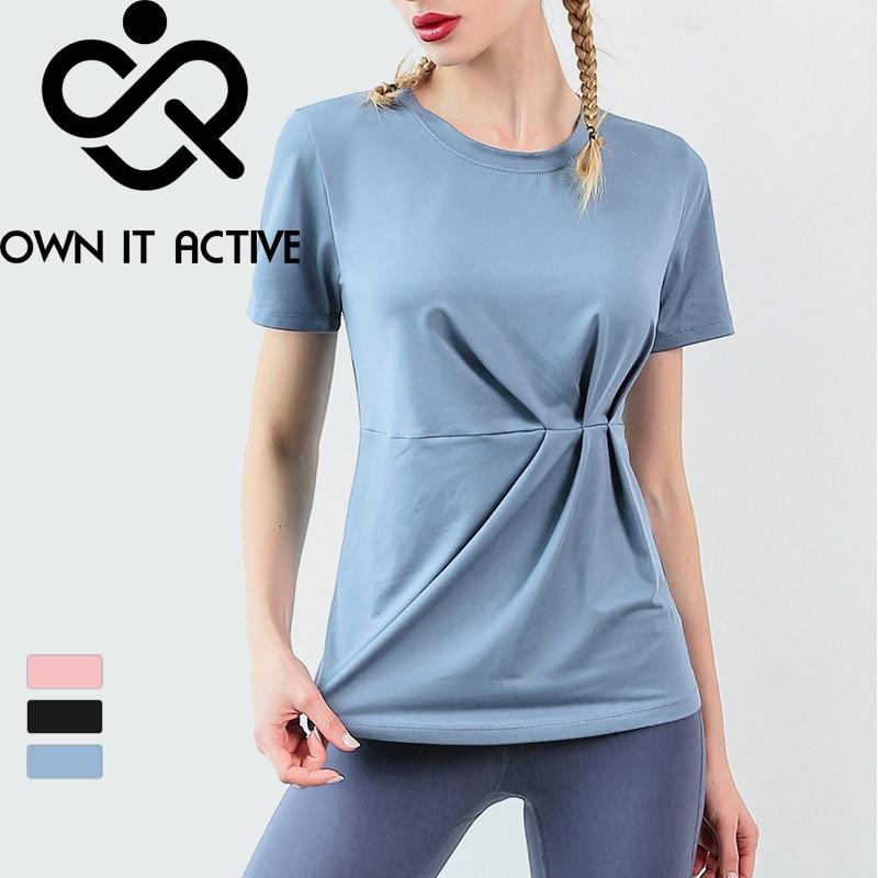 Camiseta deportiva para mujer, Camiseta deportiva, ajustada, elástica y de secado rápido...