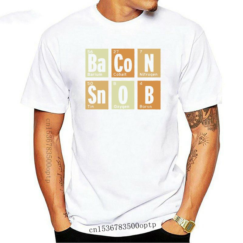 Lost Gods Periodic Table Bacon Snob Mens Graphic T Shirt(1)