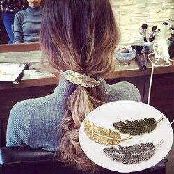 Grampos de cabelo de penas, grampos de cabelo para mulheres, acessórios de cabelo