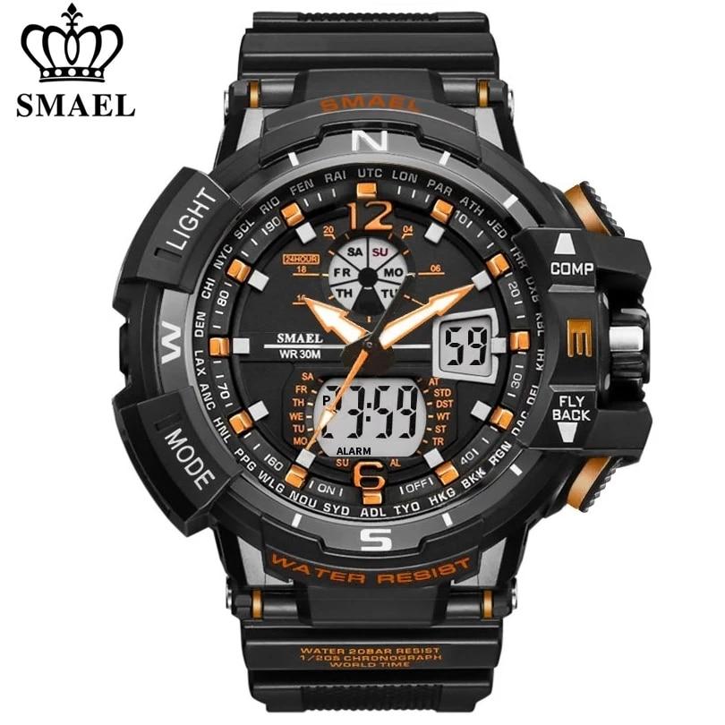 SMAEL Sport Watch Men 2021 Clock Male LED Digital Quartz Wrist Watches Men's Top Brand Luxury Digital-watch Relogio Masculino