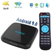 Boitier Smart TV Android 9 0  4K  RAM 4 go  rom 64 go  WIFI  Youtube  Netflix  lecteur multimedia pour Home cinema