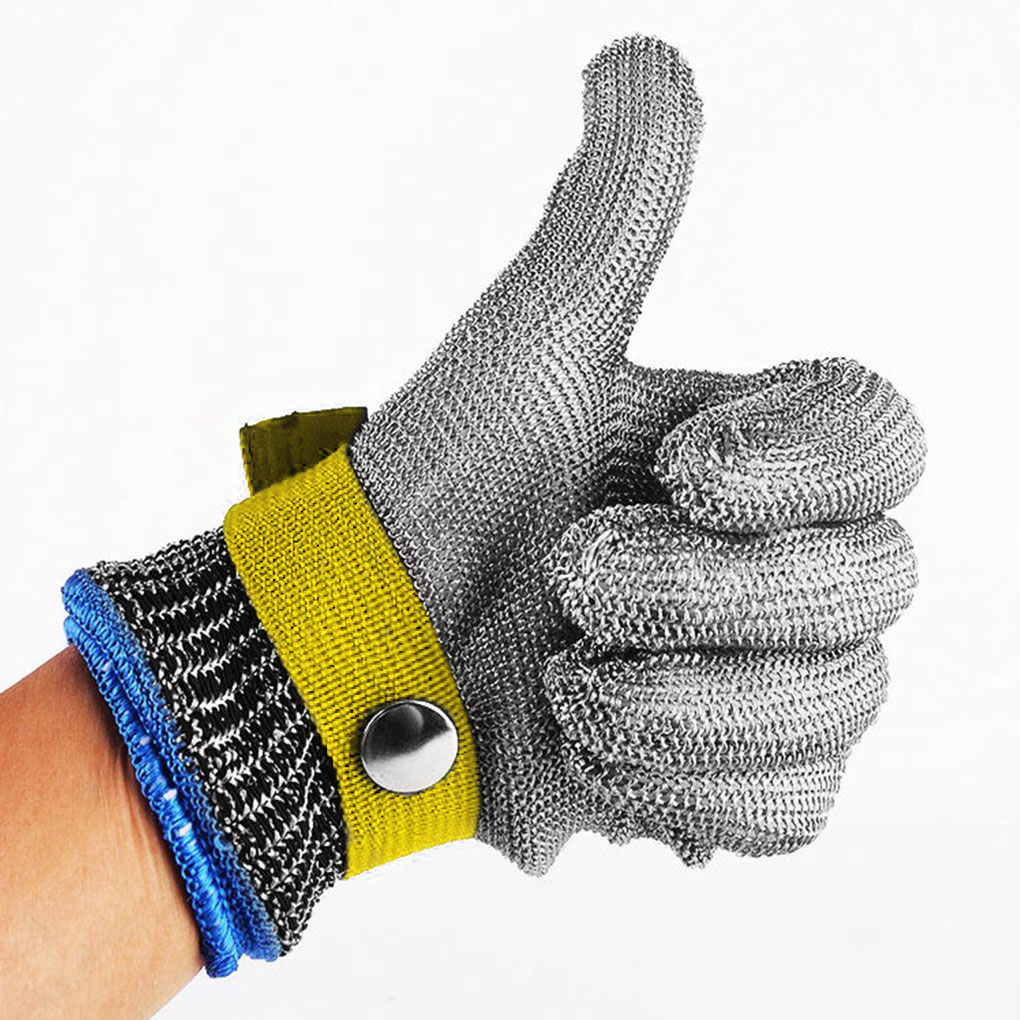 5 Level Anti-cutting Work Gloves Stainless Steel Wire Safety Stab Resistant Metal Mesh Anti Cutting