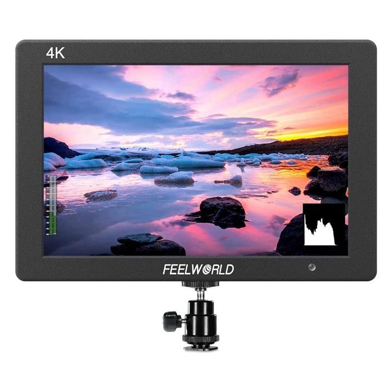 Feel world T7 7 بوصة IPS 4K HDMI كاميرا جهاز المراقبة الميدانية فيديو مساعدة كامل HD 1920X1200 الصلبة الألومنيوم الإسكان DSLR مراقب