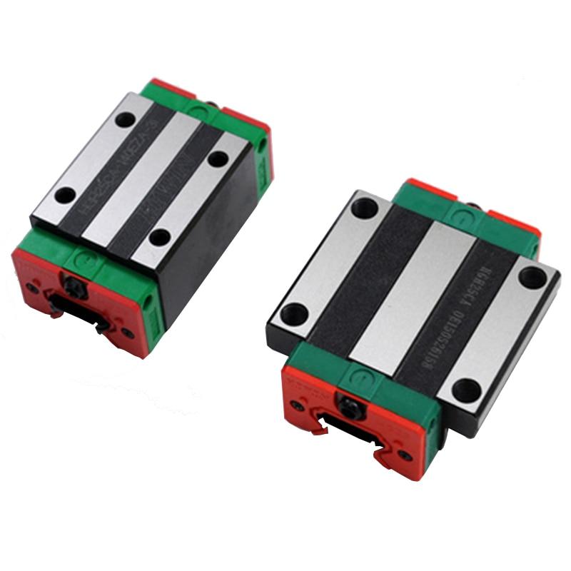 2 قطعة HGR25 HGH25 مربع الخطي دليل السكك الحديدية عرض 25 مللي متر + 4 قطعة الشريحة كتلة عربات HGH25CA/flang HGW25CC CNC الحفر الموجه