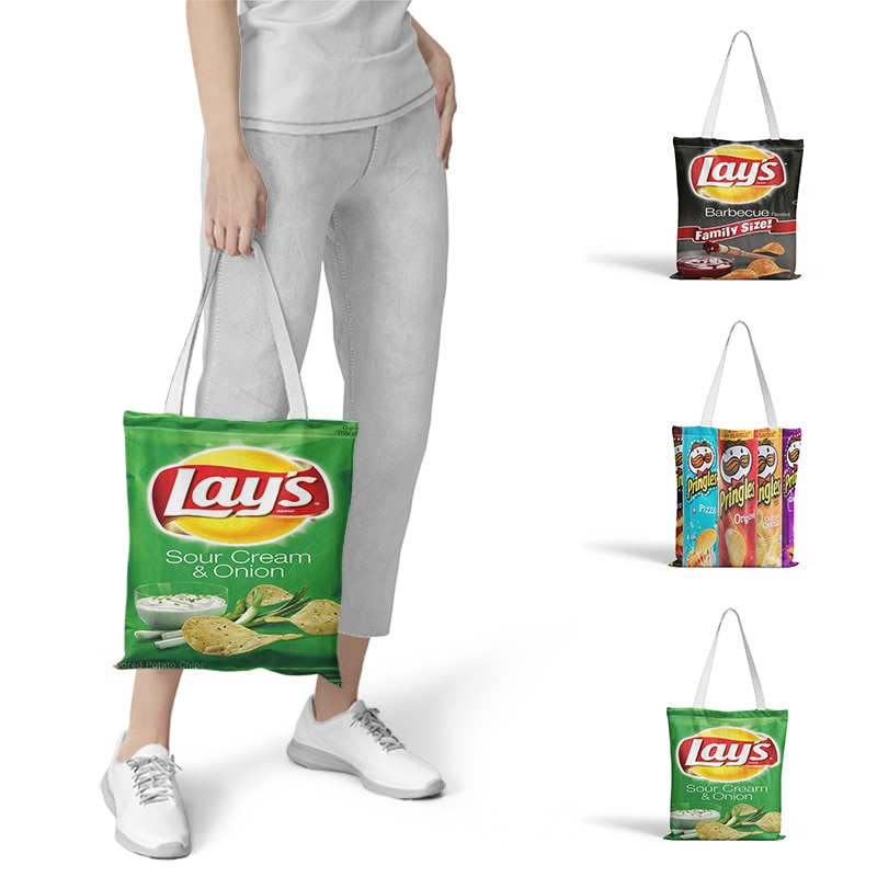 Saco de compras engraçado novidade gráfico tote harajuku shopper bolsa de ombro de lona feminina eco grande-capacidade sacchetto