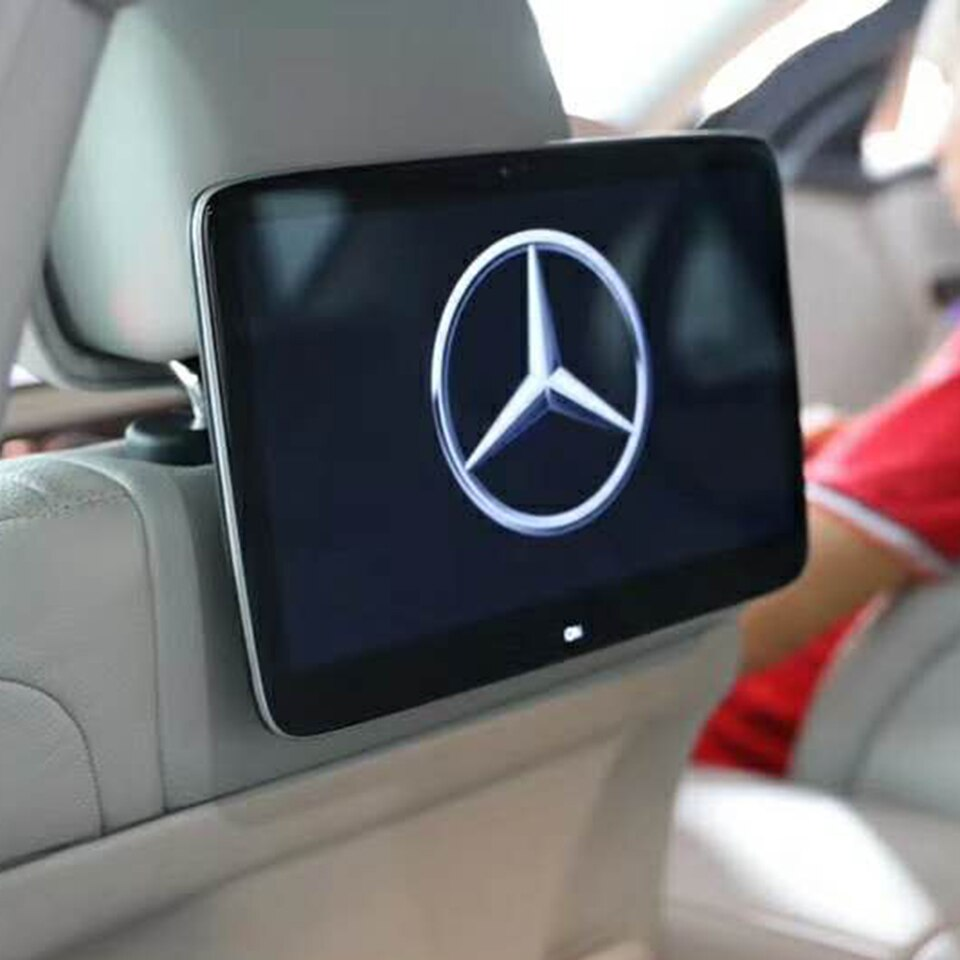 Decoración del coche modificado Android 9,0 sistema de entretenimiento trasero HD TV reposacabezas pantalla asiento trasero Monitor de ordenador para Mercedes