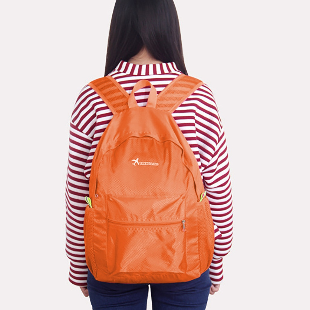 Rucksack New Backpack Wear Light Sports Outdoor Backpack mochila Light Simple Fold Back pack рюкзак женский 4 color solid hot