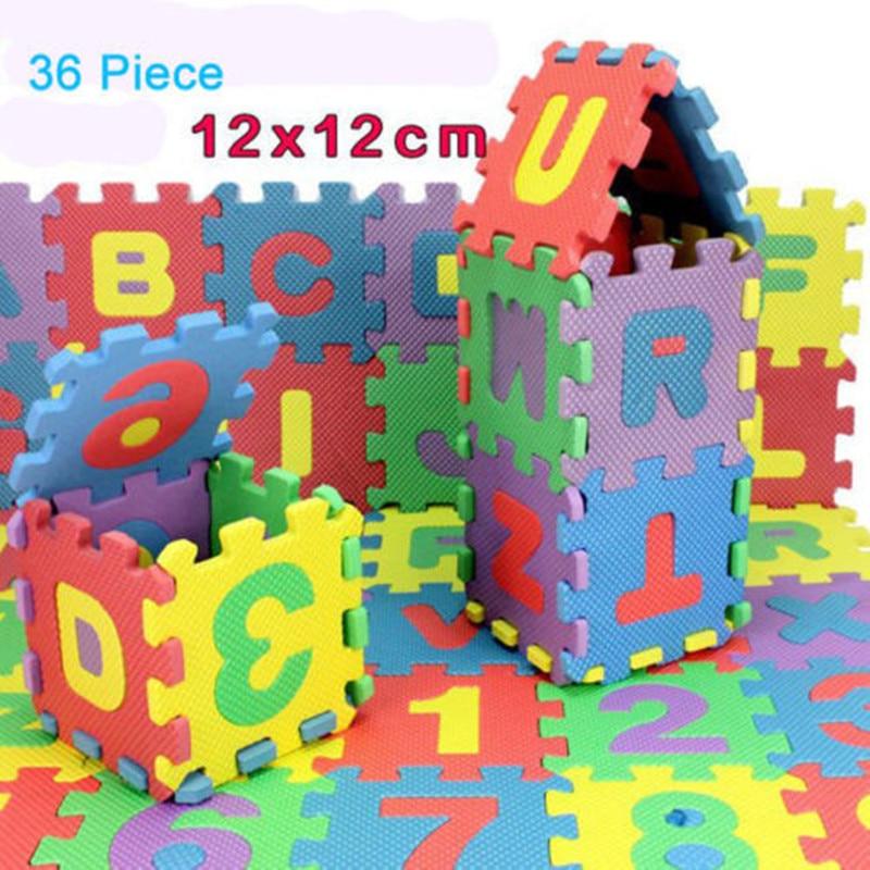 36pcs/Set Letters Numbers Kids Educational Toys Children Alphabet Soft Foam Baby Play Mat Newborn Carpet Rugs Crawling Mat