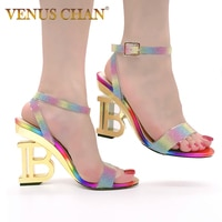 Новинка 2020 года; Летние модные женские босоножки с перекрестными ремешками на высоком каблуке 10 см; Пикантные женские Босоножки с открытым ...
