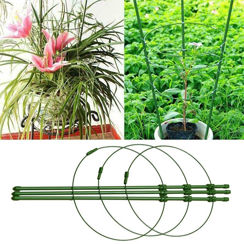 Escalada planta soporte jaula jardín enrejado flores soporte anillos tomate soporte XHC88