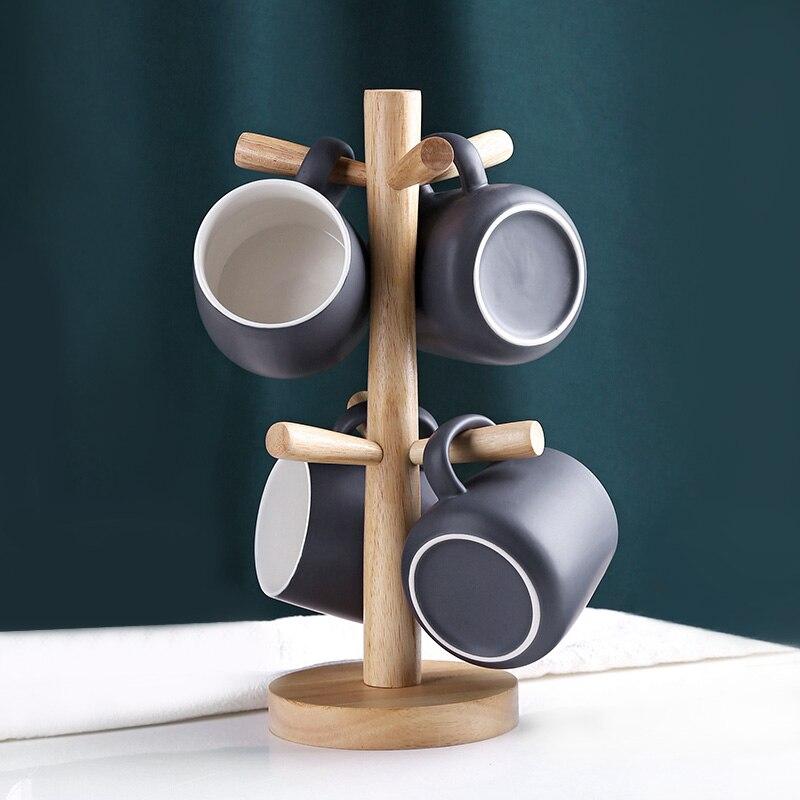 الشمال نمط المنزل مجموعة السيراميك القدح مكتب القهوة القدح مع حامل الكأس