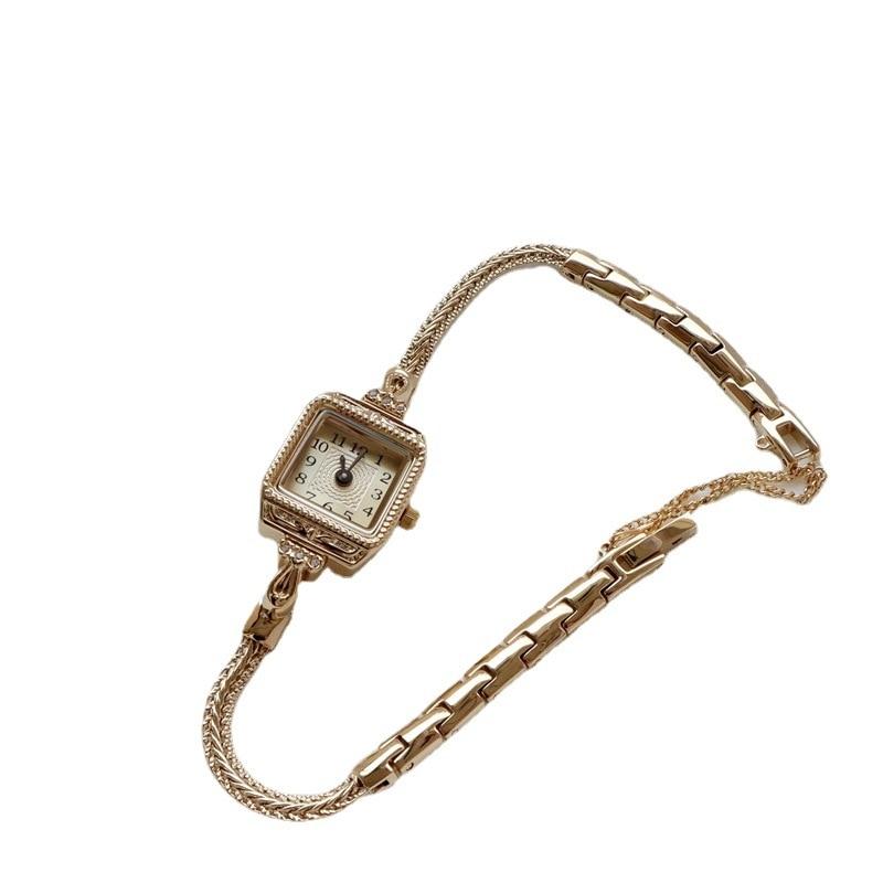 Womens Watch Small Delicate Lightweight Gentage Thin Belt Watch INS Retro Bracelet Square Watch Girl enlarge
