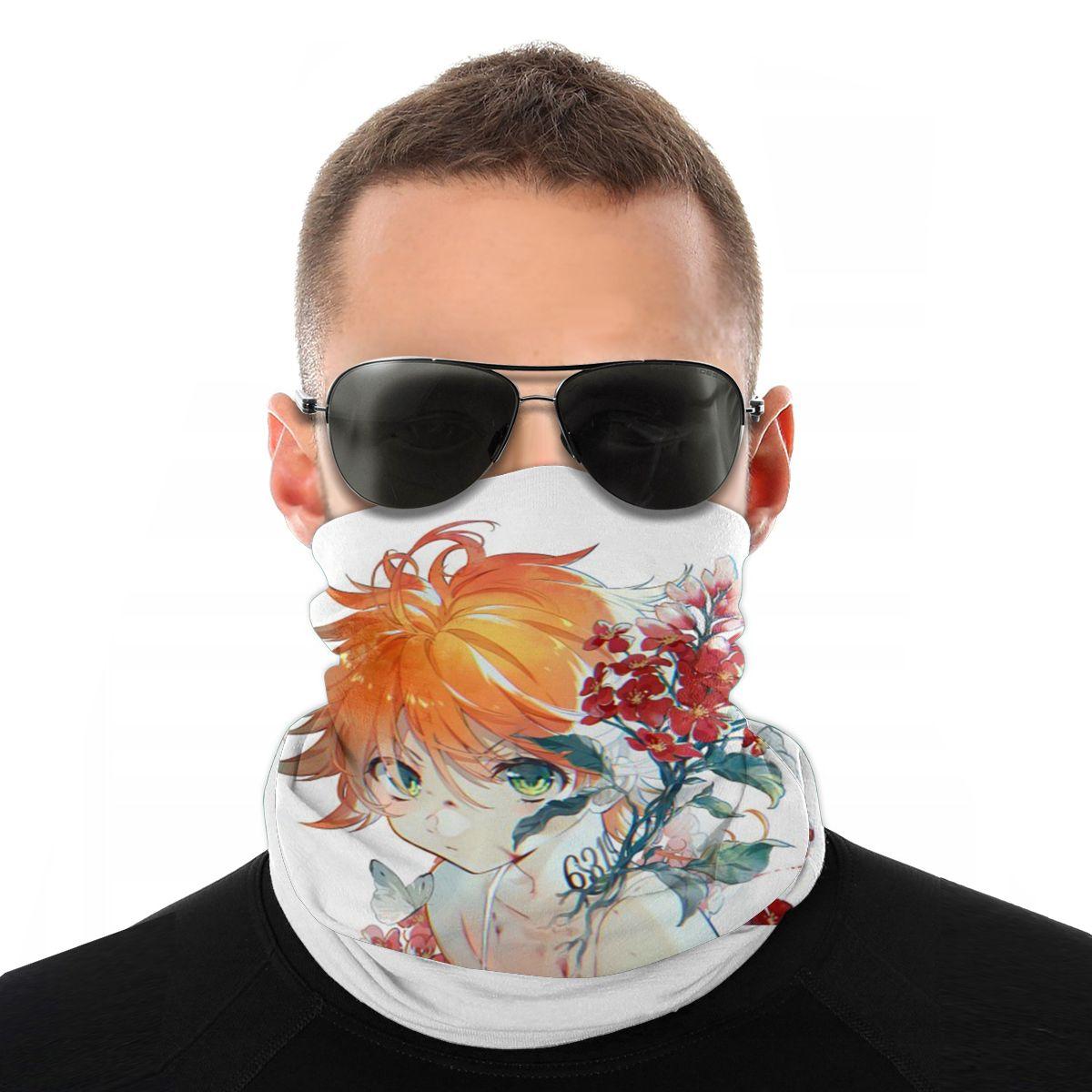 The Promised Neverland Anime Scarf Neck Face Mask Tube Mask Young Sukura Balaclava Bandanas Protective Headwear Outdoor Hiking