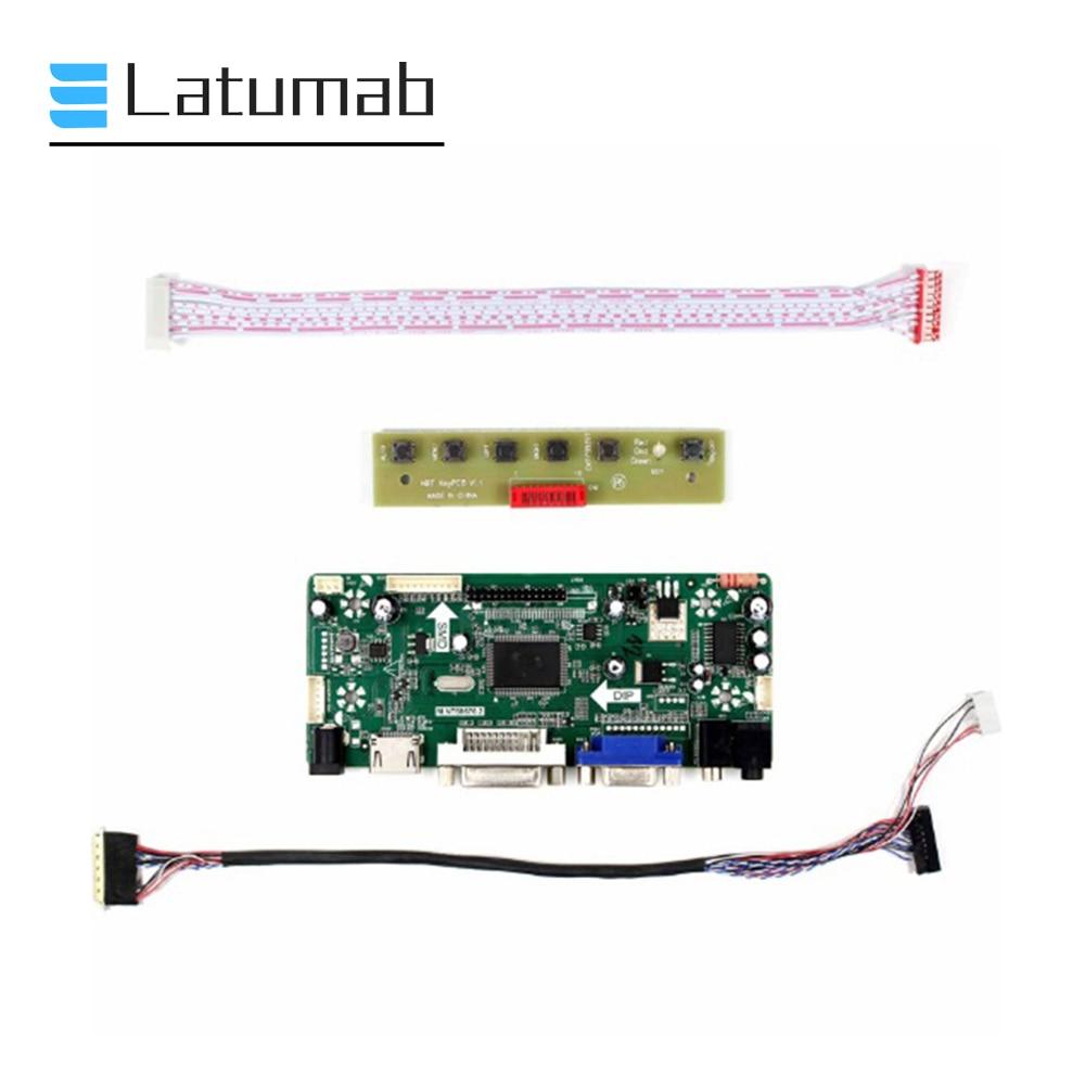 """Kit de placa Latumab para placa LM200WD3 TLC9 / LM200WD3 TLC7 30 pines LVDS 20 """"placa controladora de pantalla 1600x900 HDMI + DVI + VGA"""