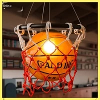 american style chandelier retro basketball lamp creative restaurant gymnasium store sports theme clothing store glass chandelier