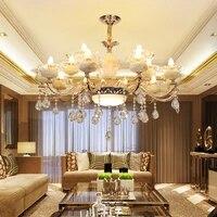 vintage chandelier living room dining room chandelier 6 zinc alloy marble glass crystal led chandeliers