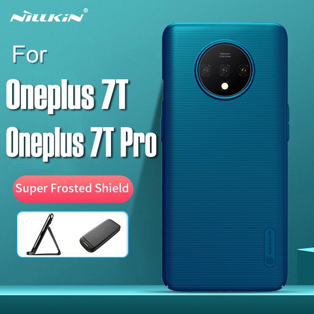 Funda ultradelgada NILLKIN para Oneplus 7T funda dura mate protectora para Oneplus 7T Pro carcasa trasera con paquete al por menor