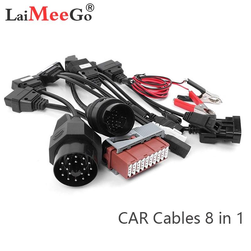Cables adaptadores para delphis vd DS150E por OBD2 OBDII coches herramienta de diagnóstico de interfaz completa 8 coche Cables VD TCS cdp Pro Cable