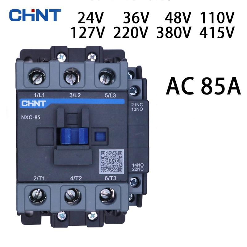 CHINT NXC-85 قواطع 85A AC 24V 36V 48V 110V 127V 220V 380V 415V يمكن أن تتكون من الكهرومغناطيسي كاتب