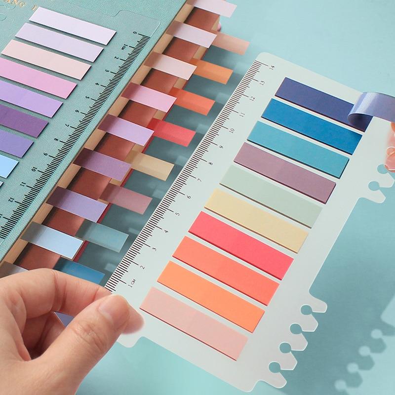 200-hojas-de-color-solido-n-veces-pegajoso-puntos-clave-indice-nota-post-etiqueta-marcador-lista-de-etiquetas-notas-adhesivas-papeleria