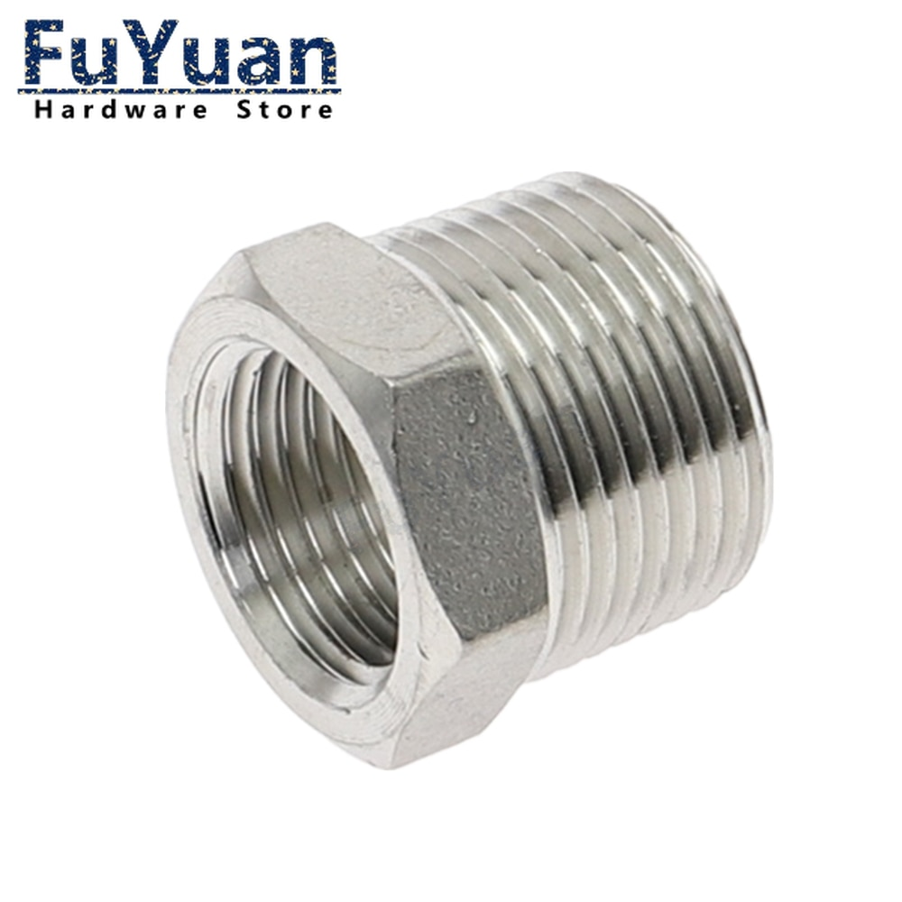 aliexpress.com - Reducer Bushing Male x Female 1/8″ 1/4″ 1/2″ 3/4″ 1″ 1-1/4″ 1-1/2″ BSP Threaded Stainless Steel SS 304 Plumbing Pipe Fittings