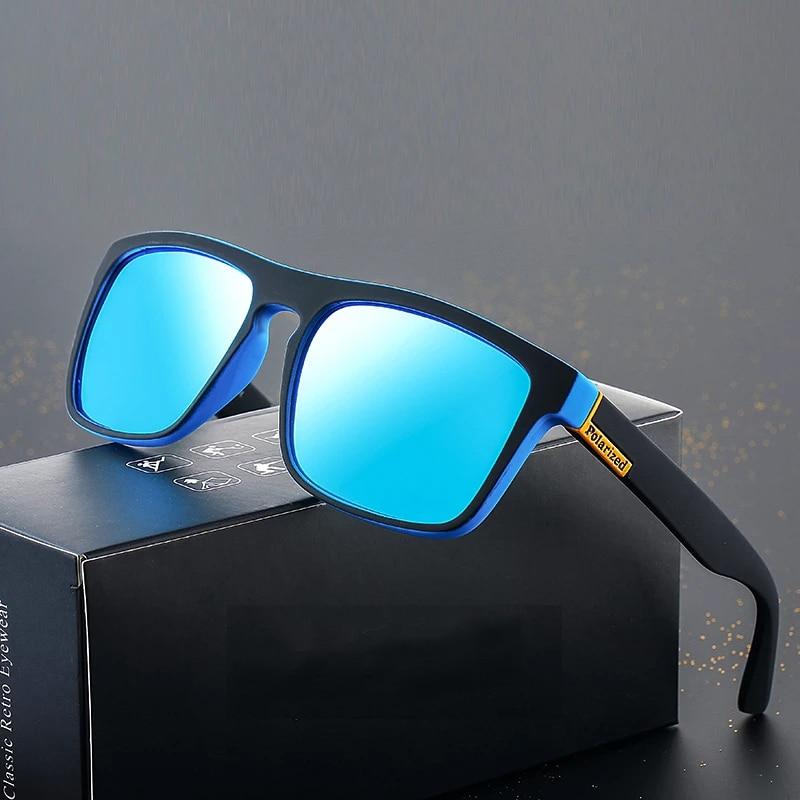 Новинка 2021, модные солнцезащитные очки для парней, поляризационные солнцезащитные очки для мужчин, классический дизайн, зеркальные модные ...