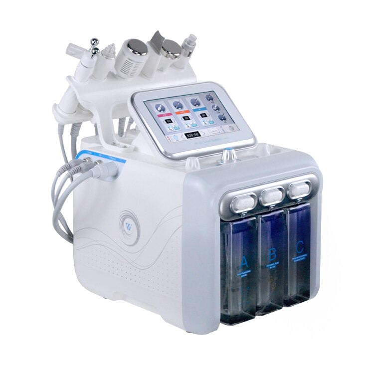 6 In 1 H2-o2 Hydra Facial Oxygen Cleaning Device Bio Face Lifting Skin Rejuvenation Whitening Beauty