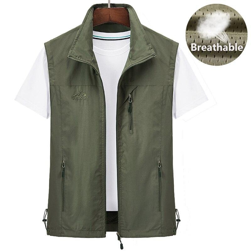 Мужской жилет для рыбалки со множеством карманов, классический жилет, мужская куртка без рукавов, однотонное пальто, рабочий жилет, тактиче...