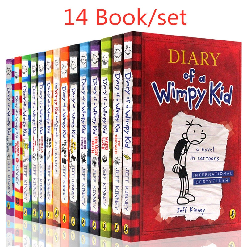 14 Books/set Diary of A Wimpy Kid Comic Book Set Learning English Language Books for Children Kids Story Books In English Libros