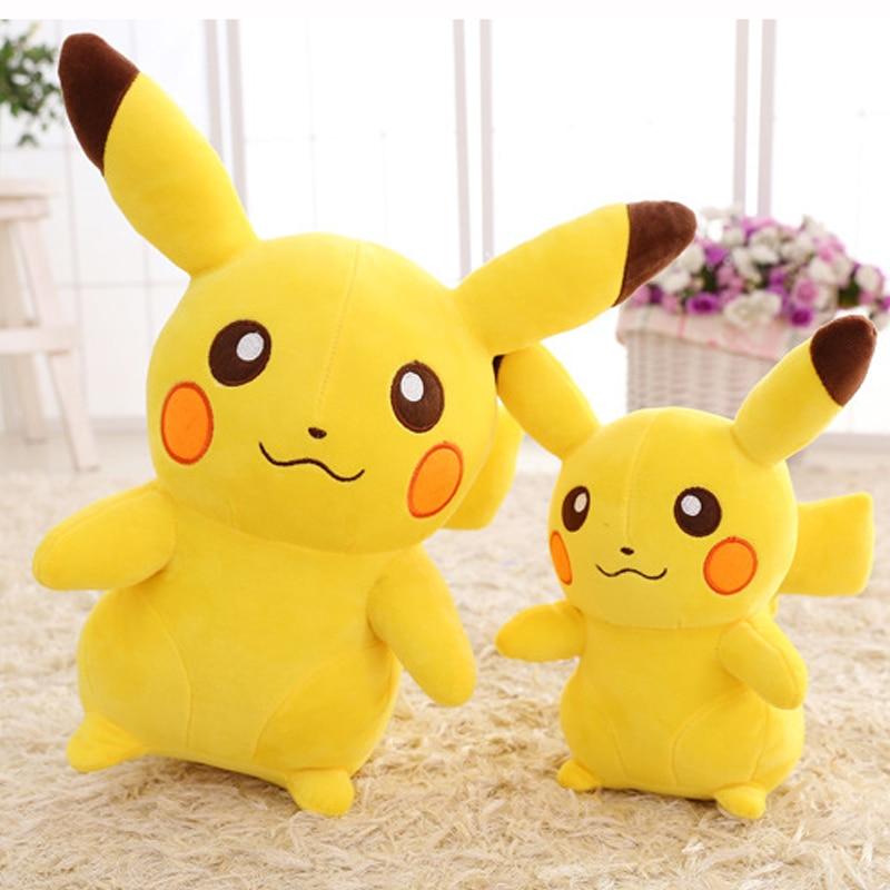 Kawaii Stuffed Anime Pikachu Plush Toy Soft Pillow Plushy Kids Doll Cute Cartoon Girls Birthday Gift for Children Car decoration