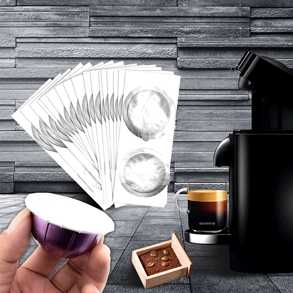 AliExpress - Nespresso Vertuo Refilling Capsule Self Adhesive Reusable Nespresso Aluminum Foil Brewer Lid Capsula Seals Sticker Coffee Maker