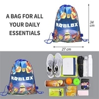 102040pcs robot blocks game non woven fabric drawstring bags kids birthday gift travel clothes shoes storage backpack supplies
