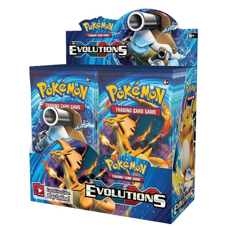 324 pièces Pokemon cartes soleil & lune XY évolutions Booster Box à collectionner jeu de cartes à collectionner