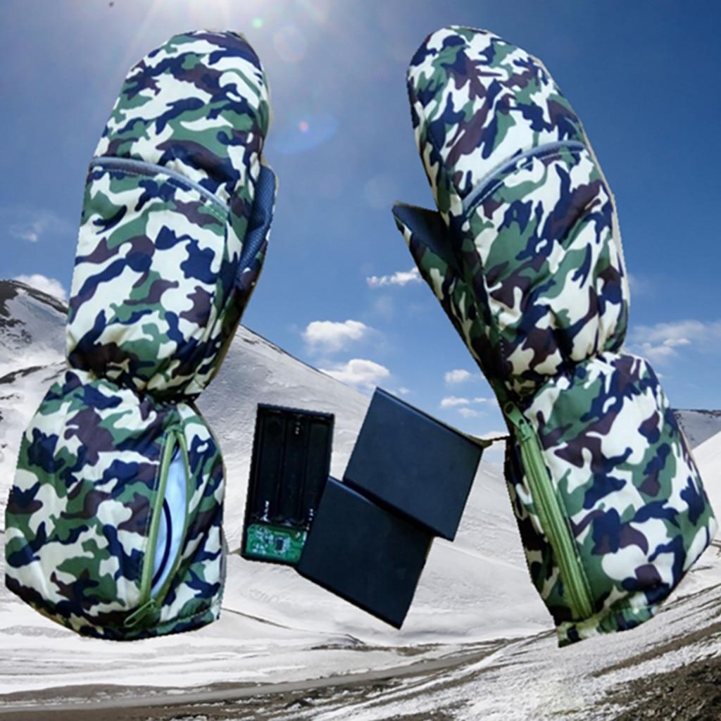 Men/Women/Kids Ski Gloves Snowboard Gloves Ultralight Waterproof Winter Sonw Warm Gloves Outdoor Electric Warm Ski Thick Gloves