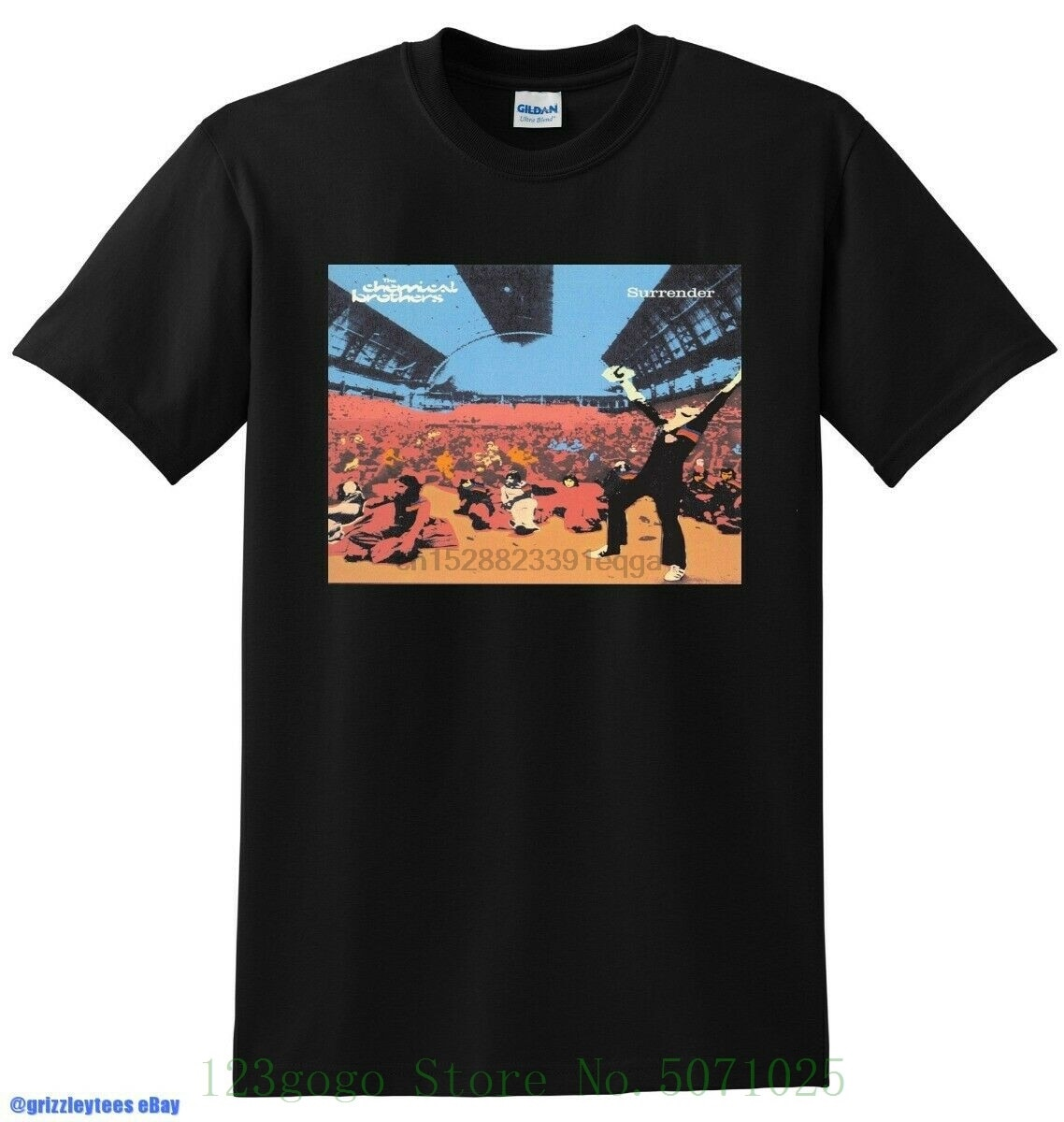 Nueva camiseta de The Chemical Brothers, de algodón puro, estampado pequeño, mediano, grande o Xl para hombre