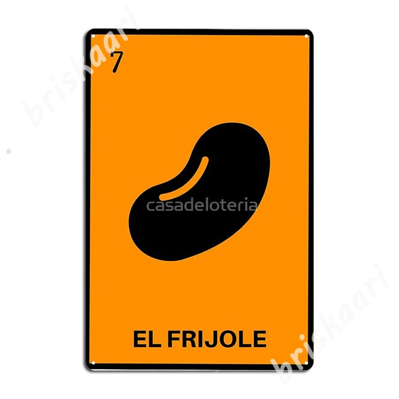 El Frijole-tarjeta de Bingo de lotería mexicana, carteles de Metal, decoración de...