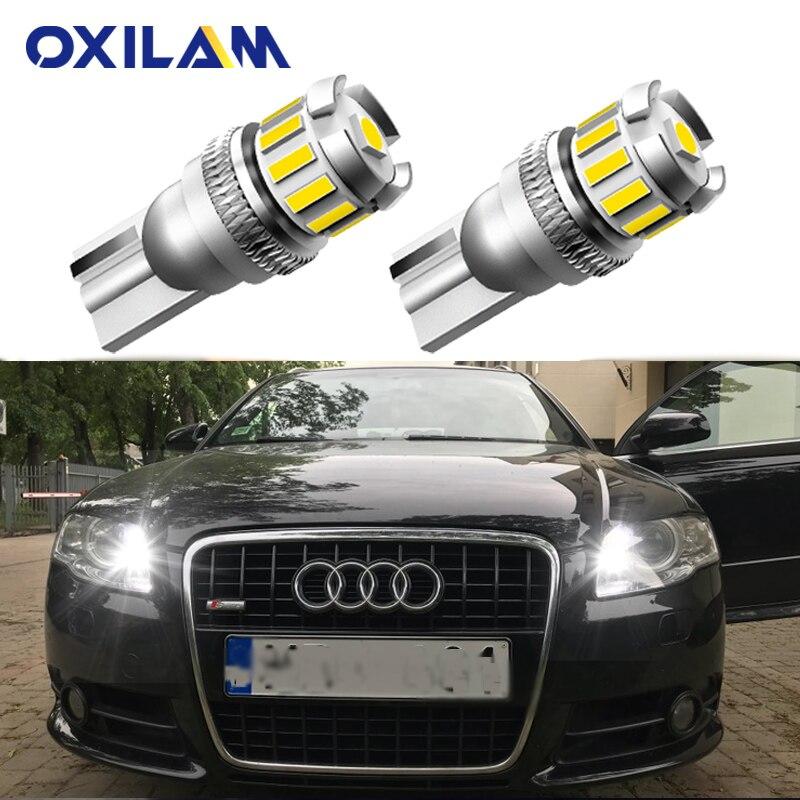 2 sztuk W5W T10 lampa LED Canbus Parking oświetlenie wnętrza dla Audi A3 A4 A6 A5 8p B6 B8 B7 B5 C6 S3 S4 RS3 TT Quattro Q5 Q7 100 300
