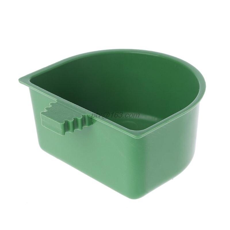 Alimentador de loro de plástico, cuenco de agua para comida, palomas, pájaros, jaula, taza de arena para alimentar