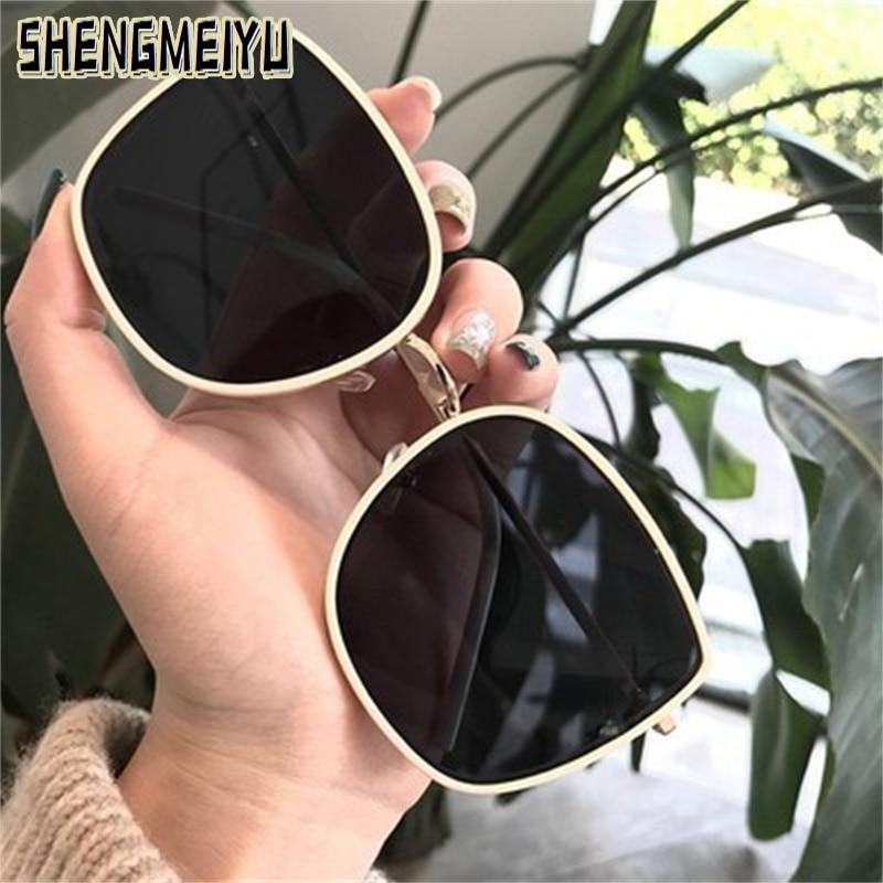 High Quality women's Oval Cat Eye Sunglasses Lady Metal Rimless shades Luxury Sunglasses Female Driv