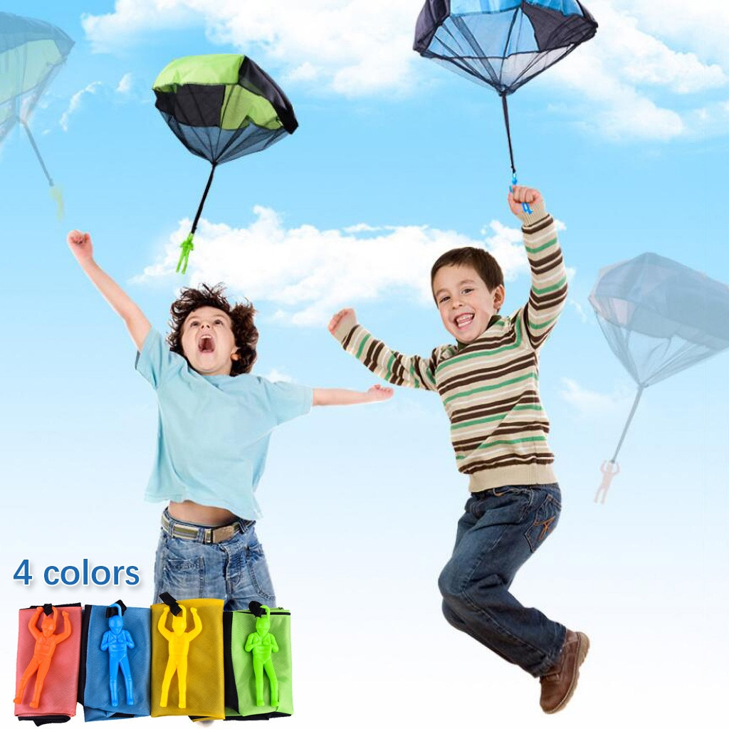 2021 toys for children Hand Throwing Mini Soldier Parachute Funny Toy Kid Outdoor Game Play Educational kids gift brinquedo #L2