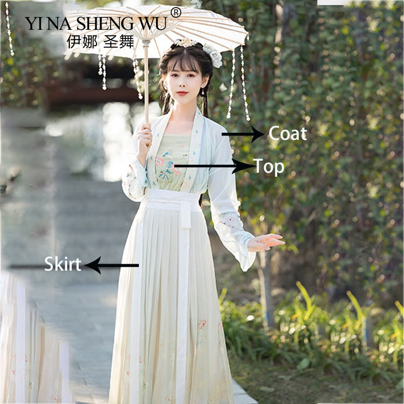 Chinese Cosplay Traditional Folk Dance Costume Women Ancient Hanfu Dress Oriental Style Tang Dynasty Dance Stage Clothing Fairy