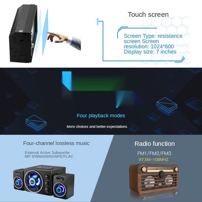 7 Inch High-definition Bluetooth Hands-free Car Mp5 Player Car Central Control U Disk Radio Recorder Reversing Camera Optional enlarge
